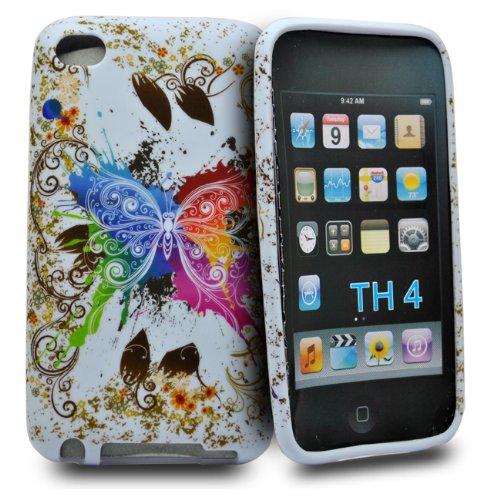 Accessory Master Silikon-Schutzhülle mit Schmetterling-Design für iPod Touch 4G, mehrfarbig (Ipod 4g Schutzhülle)