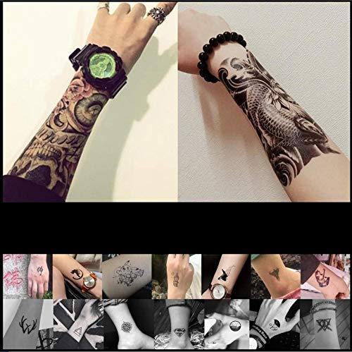 ruofengpuzi Temporäre Bar Nachtclub Langlebige Arme Ukiyo Gemalte Blume Arm Tattoo Aufkleber Tattoo Rose Half Wing Geisha Art Tattoo 8Ps (Make-up Halloween Geisha Kostüm)