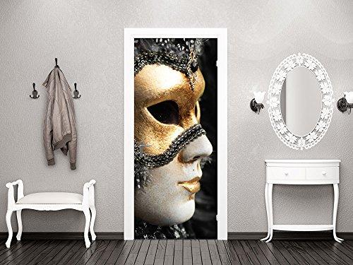 GRAZDesign 791311_101x213 Türbild Türaufkleber Tür Deko Türposter Maske Kostüm Karneval Venedig...