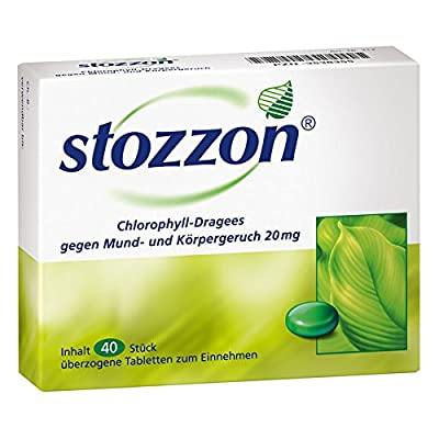 Pack of Stozzon Chlorophyll 40 Coated Tablets by Queisser Pharma GmbH & Co. KG