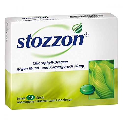 Stozzon Chlorophyll-Dragees, 40 St. Tabletten