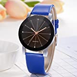 Promotions - Man Watch, Casual Sports Quartz Watch - Leather Band Strap Watch - Fashion Analog Wrist Watch (Blau)