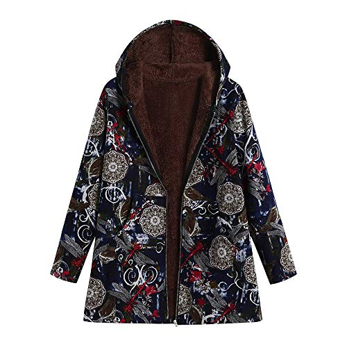 42810ca21202 Lazzboy Coat Jacket Parka Womens Boho Dragonfly Vintage Warm Fleece Lining  Hooded UK 10-18