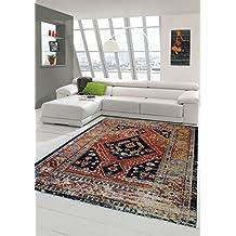 moderner teppich designer teppich orientteppich wohnzimmer teppich mit klassisch orientalischen muster in schwarz rot beige trkis