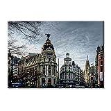 KiarenzaFD Panel de la Lona Lienzo España Gran Via de Madrid Edificio Metropolis Cibeles Muebles...