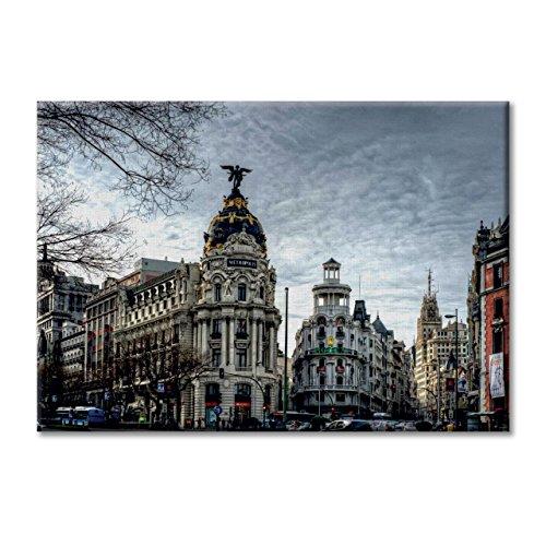panel-de-la-lona-lienzo-espaaa-gran-via-de-madrid-edificio-metropolis-cibeles-muebles-100x70-cm