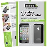 dipos I 4X Schutzfolie matt passend für iPhone 4 / 4S Folie Bildschirmschutzfolie (2X Vorder- und 2X Rückseite)