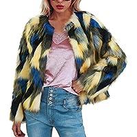 Damen Pullover Jacket Lang Mantel Sweatjacke Kapuzenjacke Sweatshirt Langarm Winterjacke Warm Faux Fur Coat Jacket Winter Gradient Color Parka Outerwear
