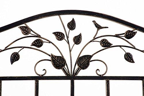 CLP Gartenbank ABIONA im Landhausstil, Eisen lackiert (Metall) ca 110 x 50 cm Bronze - 4