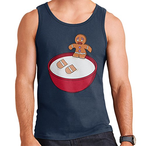 Cloud City 7 Shrek Gingerbread Man Milk Problems Men's Vest Shrek Gingerbread
