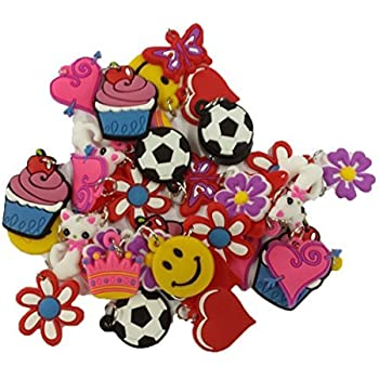 Wadoy 20 Pack of Charms For Rubberband Loom Bracelets