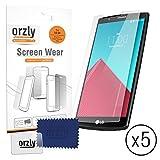 Orzly® - LG G4 Pellicola Protettiva / Protezione dello Schermo MULTI PACHETTO (salvaschermo 5 PACK) - 5x Guardie Proteggi / Pellicole per Display - Progettato Esclusivamente per LG G4 SmartPhone / Teléfono Cellulare (2015 Modelo)