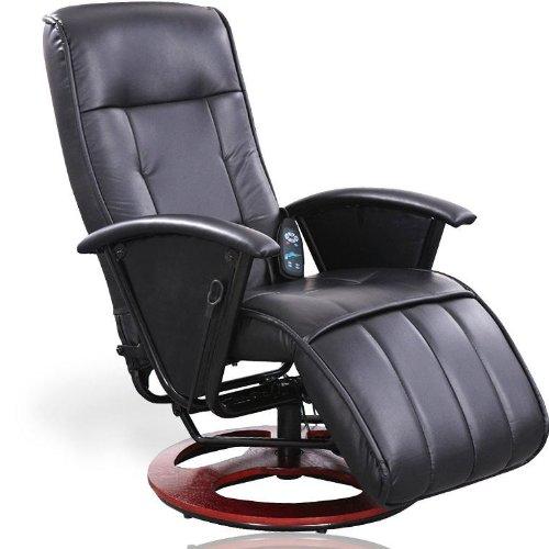 Massagesessel Fernsehsessel Relaxsessel mit Heizung und Steuereinheit, schwarz