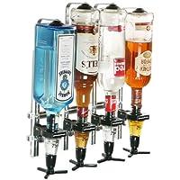 Oypla 4 Bottle Wall Mounted Spirit Drink Dispenser Bar Shot Measurer Optics