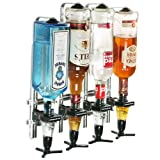 Oypla 4 Bottle Wall Mounted Spirit Drink Dispenser Bar Shot Measurer Optics