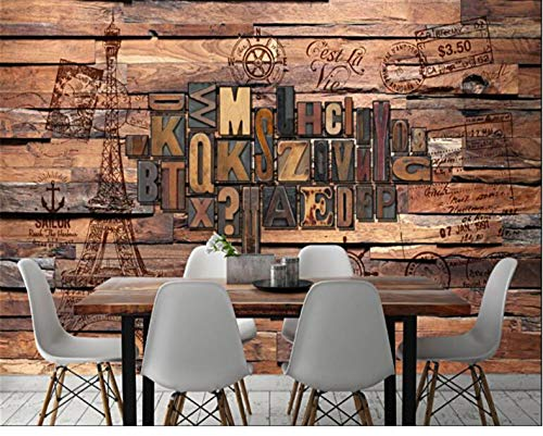 andbild 3D Europäischen Und Amerikanischen Mode Grenze Alphabet Englisch Bar Restaurant Wand Kreative Seide Dekoration 1㎡ (100X100 Cm) ()