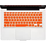 "Kuzy - ORANGE Keyboard Cover Silicone Skin for MacBook Pro 13"" 15"" 17"" (with or w/out Retina Display) iMac and MacBook Air 13""- (USA KEYBOARD VERSION) - Orange"