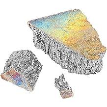 Lingotto di Bismuto, 1000 Grammi di Cristallo di Bismuto o Bismuto di Metallo Boccale di Lingotto 99.99% di Cristalli di Cristallo puro per Cristalli/Esche da pesca