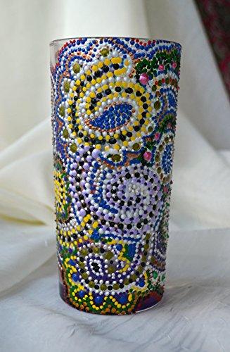 Hecho a mano acrílico vaso de tubo cristal Multicolor respetuoso con