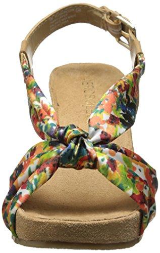 Aerosoles Plush Pillow Femmes Toile Sandales Compensés Floral Combo