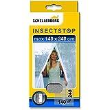 Schellenberg 20503 - Mosquitera para puertas, protección anti insectos y moscas (140 x 240 cm) color blanco