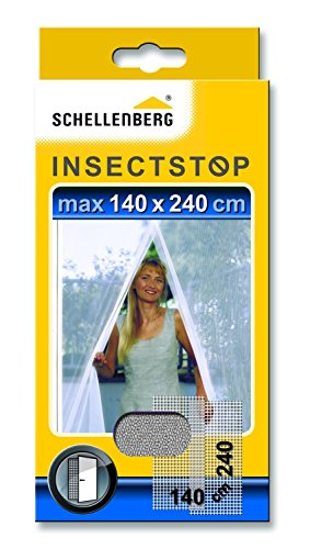 Schellenberg 20503 zanzariera per porte bianca 140 x 240 cm