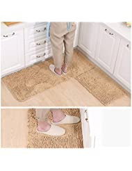 Colchonetas, alfombras de Chenille, esteras antideslizantes de absorción de agua, alfombrillas de la cocina de baño, 40 * 60cm Mats (1 Asamblea) ( Color : D )