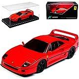 alles-meine.de GmbH Ferrari F40 Coupe Rot 1987 -1992 1/43 Kyosho Modell Auto mit individiuellem Wunschkennzeichen