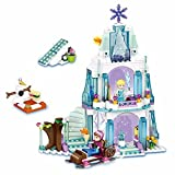 #6: Frozen Elsa's Sparkling Ice Castle Doll House Building Block Lego Style Set Action Figures Play Set Toy for kids
