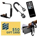 "Opteka FB-10 Camera Flip External Flash Bracket + Off-Camera Flash Sync Cord For Olympus E-30 E-3 E-1 E-520 E-510 E-500 E-450 E-600 E-420 E-410 E-400 E-330 E-300 E-620 E-P1 E-P2 E-PL1 Includes Bonus Wireless Remote Control + 5"" X 4"" Color &"