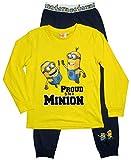 Minions Schlafanzug Kollektion 2016 Pyjama 110 116 122 128 134 140 146 152 Lang Jungen Neu Herbst Winter Nachtwäsche Gelb-Blau (122 - 128, Gelb-Blau)