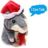 Theory Of Bliss Plush Interactive Toys PRO Talking Hamster Repeats What You Say Electronic Pet Chatimals Mouse Buddy For Boy And Girl, 5.7 X 3 Inches (Danny)