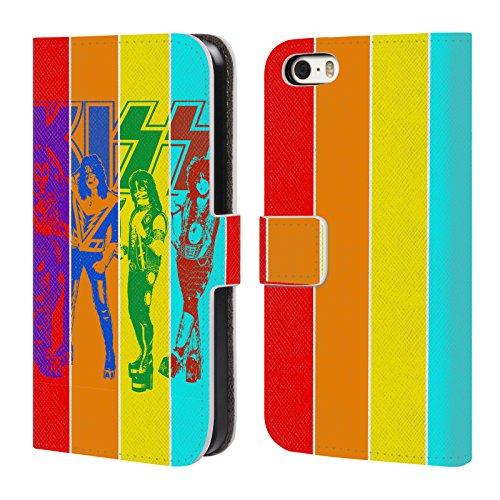 Ufficiale KISS Destroyer Giappone Gruppo Cover a portafoglio in pelle per Apple iPhone 7 Plus / 8 Plus Pop Art