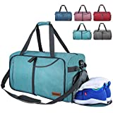 Canway Bolsa de Viaje Plegable Bolsa Deporte Bolsa Equipaje Duffle Bag Impermeable y la Resistencia al desgarro Bolsillos Múltiples 65L para Mujer y Hombre