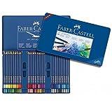 FABER-CASTELL Etui métal de 60 crayons couleur ART GRIP AQUARELLE