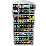 #6: Rich & Famous Fancy Collection Multicolor Multi Design Stud For Girls & Women Earring Combo (Pair of 36)