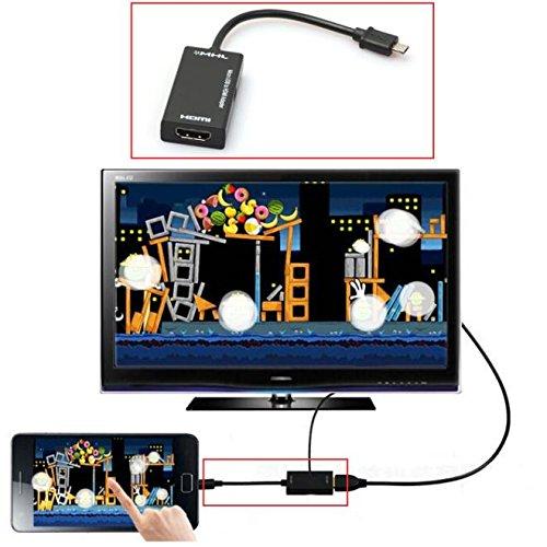 Mini-Mikro-USB 2.0 MHL zum HDMI Kabel HD 1080P für Samsung-Galaxieanmerkung 2 (Mikro-hdmi-adapter Für Android)