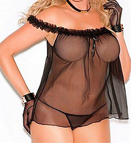 Eleganz Tunika (Fanessy Dessous-Sets Bodystocking Sexy Leopard - Damen Dessous - Einheitsgröße Große Yards Erotik Negligees)