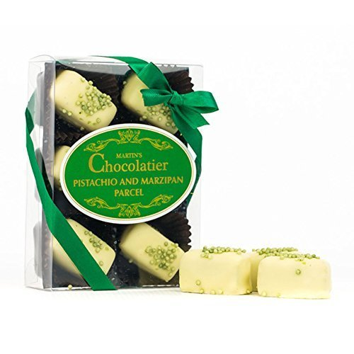 Martins Chocolatier Pistachio and Marzipan Parcels White Chocolate Gift 6 Pack