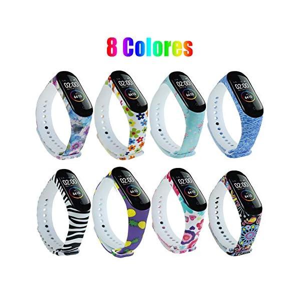 G-Color Correa Xiaomi mi band 3/4, 8 Colores, Correa de Silicona Blando, Impermeable y Ajustable, Pulsera/Banda/Brazalete de Reemplazo para Xiaomi mi band 4/3 [Compatible con Xiaomi Mi Smart Band 4] 1