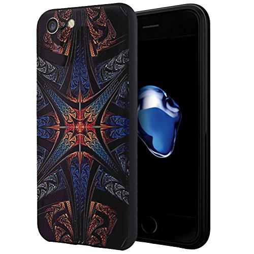 "MOONCASE iPhone 7 Hülle, [Dummy Doll] Kreativ Bunt Muster Design Gel TPU Schutzhülle für iPhone 7 4.7"" Handyhülle Silikon kratzfeste stoßdämpfende Case Totem"