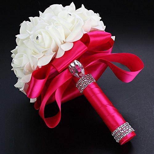 � Künstliche Rosen Blumen Hochzeit Brautstrauß - rose (Blumen Bouqet)