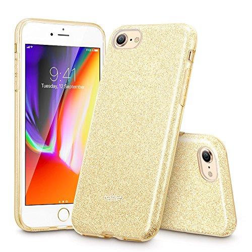 ESRHülle kompatibel mitiPhone8,iPhone7 Hülle, Luxus Glitzer Bling [Glänzende Mode][Dünn] Designer Schutzhülle für AppleiPhone8/7 4.7 Zoll 2017 - Gold