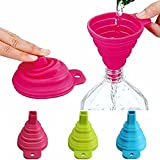 Bluelover Silicone Collapsible Mini Filling Liquid Oil Water Funnel Kitchen Tools Red