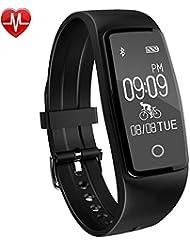 Montre Connectée,Willful SW327 Bracelet Connecté étanche Tracker d'Activité Montre Fitness Podomètre avec Cardiofréquencemètre Sommeil Calories Alarme Vibrante pour iPhone IOS Android Femme Homme