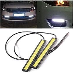 CSOURCE® Luz LED Impermeable de Circulación Diurna o para Conducir con Niebla, 2 Unidades de 17cm, Blanco, 12V MA119