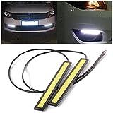 XCSOURCE 2x diurne a LED luce della lampada della nebbia impermeabile Driving bianco 12V 17 centimetri MA119