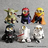 10cm 6pcs/lot Q Style Star War Minions Cosplay Darth Vader & Storm & Yoda Trooper Action Figure Model Toy by Thai
