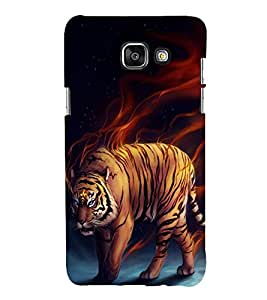 FUSON Angry Tiger Painting 3D Hard Polycarbonate Designer Back Case Cover for Samsung On5 (2016) New Edition For 2017 :: Samsung Galaxy On 5 (2017)