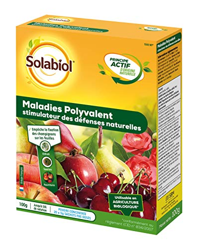 Solabiol SOSEREN100 Maladie Polyvalent-Traitement Fongicide au Bacillus subtilis | Utilisable en Agriculture Biologique, 20 Sachets de 5gr